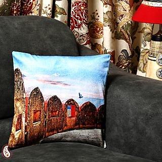 Jaigarh Fort Of Jaipur Velvet Cushion Cover CC1379