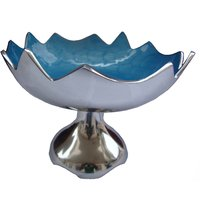 HMSTEELS Aluminium Fruit Bowl Elegent Design Blue Color 26 CM * 20 CM Height