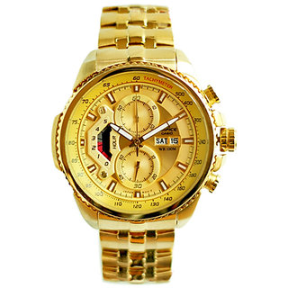 Brand New Imported Casio Edifice Ef-558fg Full Gold Watch For Men