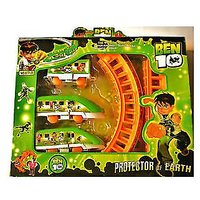 Ben 10 Train Set Track Set Battery Operated Toy Train Gift For Kids - 4874436