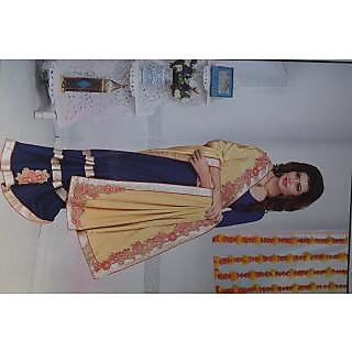 PARNAVI SAREES butyfull dark blue colour saree witj golden border