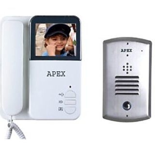 APEX ColourVideo Door Phone with Night Vision with Stainless Steel Pin Hole Camera