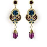The Pari Black & Golden Earrings (Tper-2)