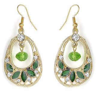 The Pari Green & Golden Earrings (Tper-595)