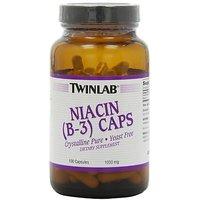 Twinlab Niacin (B-3) 1000Mg, 100 Capsules (Pack Of 3)
