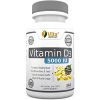 Vitamin D3 5000 Iu - 100% Best Natural Sources In Organic Olive Oil - Gmo Free