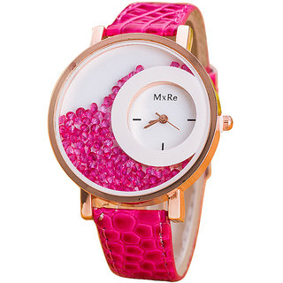 New Brand MXR Pink Color Moving Beads Women Watches By sangho hub