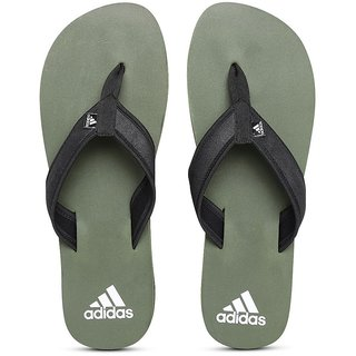 54e9325a8d6729 Buy Adidas Men Black Olive Green Rio Attack Flip-Flops Online ...