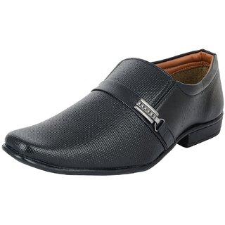 Footgear Men's Black Formal Loafers(M-FOLO-27)