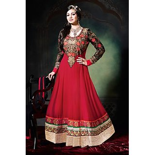 Ethnic Red Color Anarkali Salwar Suit