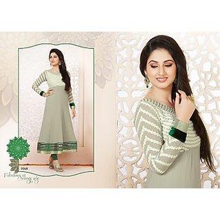 Exotic Grey Color Anarkali Salwar Suit