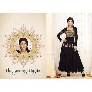 Unique & Beautiful Black Color Anarkali Salwar Suit