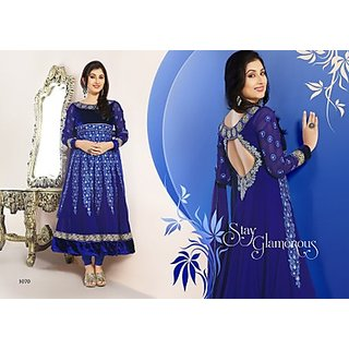 Exquisite Blue Color Anarkali Salwar Suit