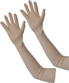 Full Hand Arm Sleeves Elbow Sleeves Cooling Sun Protection Cover (1 Pair)