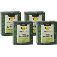 Khadi Pure Herbal Black Mehndi - 80g (Set of 4)