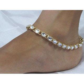 White stone anklet SMC1011