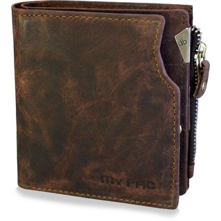 mypac cruise brown Genuine Leather wallet with atm card holder for men C11572-2