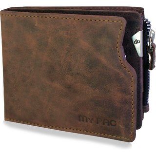 mypac cruise brown Genuine Leather wallet with atm card holder for men C11573-2