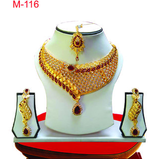 Bollywood Jewellery Necklace Earrigns with Tika Set