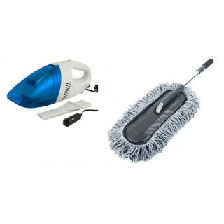 KS Combo of Car Vacuum Cleaner Car Microfiber Brush