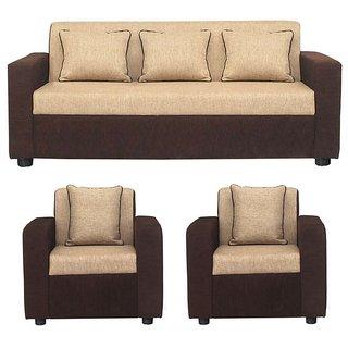 Gioteak Sofia 5 seater sofa set in cream brown color 3+1+1