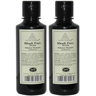 Khadi Pure Herbal Shikakai Shampoo - 210ml (Set of 2)