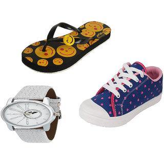 845b194e46cea3 Buy Earton Women Combo Pack Of 3 Flip-Flops With Watch Casual Shoes ...