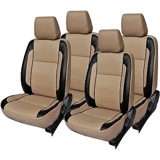 Autodecor Tata  Indigo Beige Leatherite Car Seat Cover with Neck Rest Free