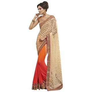 Triveni Multicolor Net Lace Saree With Blouse
