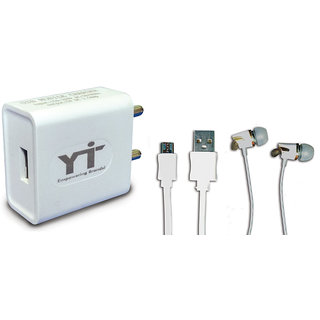 YTI Wall Charger Accessory Combo for  HTC Desire E9S Dual