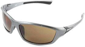 Fastrack P351BR3 Sports Sunglasses Size  Medium Silver  Brown