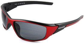 Fastrack P352BK1 Sports Sunglasses Size  Medium Red / Black
