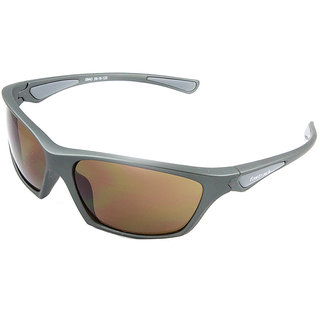 Fastrack P353BR3 Sports Sunglasses Size Medium Silver / Brown