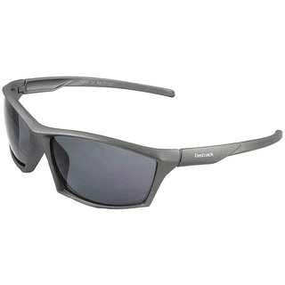 Fastrack P356BK3 Sports Sunglasses Size Medium Grey / Black