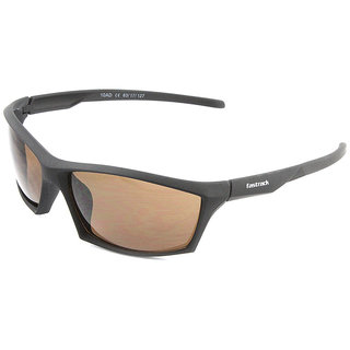 Fastrack P356BR2 Sports Sunglasses Size Medium Black / Brown