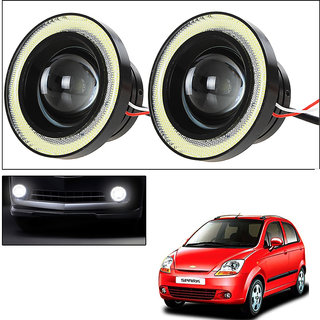 Vheelocityin 2Pc 3.5Inch Car Fog Lamp Angel Eye Drl Led Light  For Chevrolet Spark