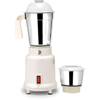 Suntreck Mini 350 W Mixer Grinder (White, 2 Jars)