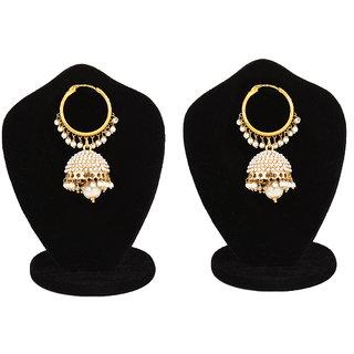 Jewels Gehna  Party Wear Fashion Designer Traditional Stone Jhumki Earring Set For Women  Girls