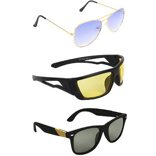 e35877503ab Buy Zyaden Combo of 3 Sunglasses Aviator