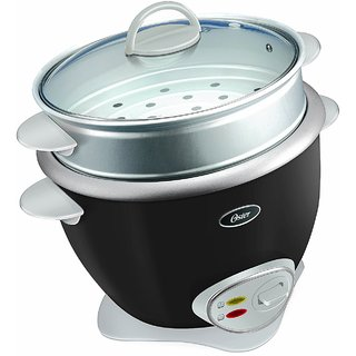 Oster 4731 3.6-Litre Rice Cooker with Steam Tray (Grey/Silver)