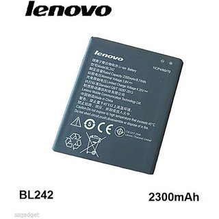 Buy Lenovo Battery For Lenovo A6000 A6000 Plus A6010 Bl242 2300mah