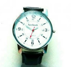 Facebook white dial watch for men