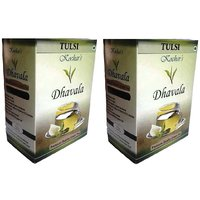 Dhavala Green Tea 200 Gms With Natural Tulsi-set Of 2