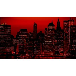 Asmi Collections Beautiful City In Night Painting Sticker