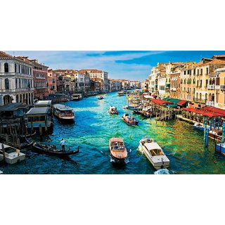 Asmi Collections Beautiful Venice City Painting Sticker