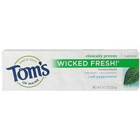 Tom's Of Maine Wicked Fresh Fluoride Natural Toothpaste, Cool Peppermint, 4.7