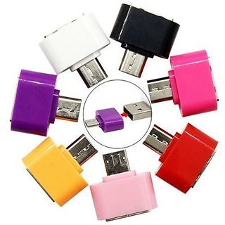 Pack of 2 Micro USB OTG Adaptor - (Assorted Colors)