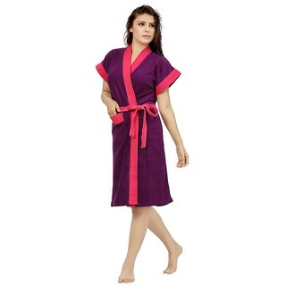 Feelblue Double Shaded Bathrobe (Violet-Rani)