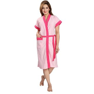 1d679c8480 Buy Feelblue Double Shaded Bathrobe (Pink) Online - Get 47% Off