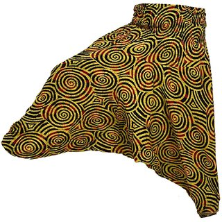 Round cercel Print yellow  black  Color Pure Cotton Harem women Pants Traditional Indian Trouser